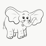 Cheerful elephant, coloring