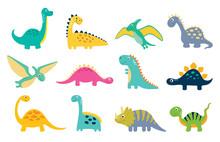 Cute Dino Illustration Sticker