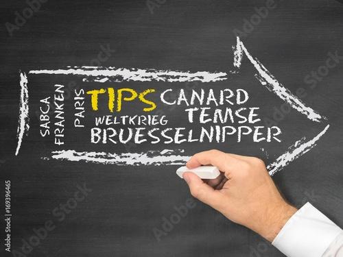 Foto op Canvas Brussel Tips