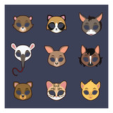 Collection of animal masks for Halloween and various festivities #2