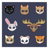Collection of animal masks for Halloween and various festivities #3