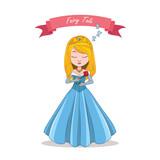 Illustration of a beautiful sleeping princess