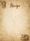 Recipe template - retro crumpled paper - 169409634