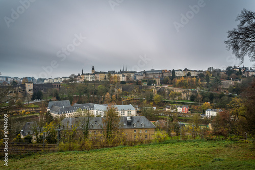 Foto op Plexiglas Donkergrijs Old Quarters and Fortifications, Luxembourg