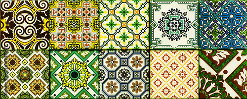 Fototapeta Ceramic, marble tiles with an abstract mosaic pattern for interior decoration