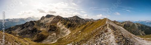 Papiers peints Photos panoramiques Bergpanorama Wallis, Alpen im Valais, la Brinta, von Vercorin nach Grimnetz, Eifischtal, Schweiz