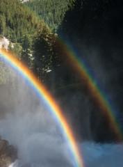 Doppelter Regenbogen bei den Krimmler Wasserfällen