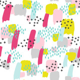 seamless pattern with splash of color - 169437232