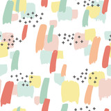 seamless pattern with splash of color - 169437242