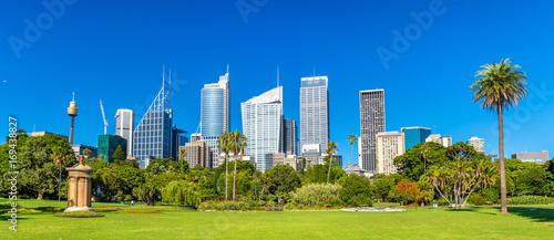 Papiers peints Sydney Skyscrapers of Sydney seen from Royal Botanical Garden