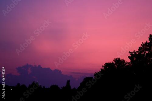In de dag Candy roze Abendrot - Magenta beendet einen schönen Abendhimmel