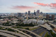 Aerial image Downtown Atlanta with beautiful skyscape