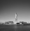 Statue of Liberty in black and white colors.
