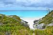 White sand beach bay on Bahamas