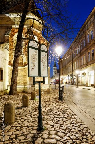 Foto op Plexiglas Krakau KRAKOW, POLAND - DECEMBER 01, 2016: City map in historic city centre of Krakow. Grodzka street