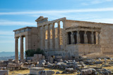Architecture detail of ancient temple Erechteion in Acropolis, Athens, Greece - 169469886