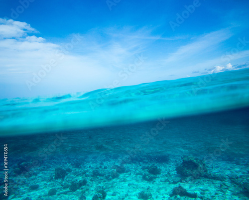 Foto op Plexiglas Turkoois tropical sea