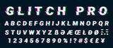 Glitch distorted font letter set with broken pixel effect - 169476698