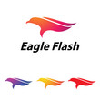 Abstract Eagle Hawk Simple Logo Symbol Illustration
