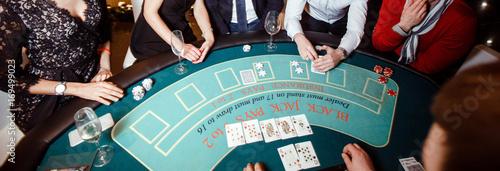 People gambling in casino плакат