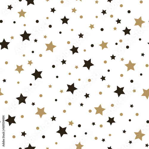 Fototapeta Фон, бесшовные модели со звездами. Векторные иллюстрации.