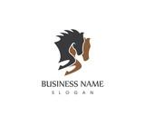 Horse Head Silhouette Logo