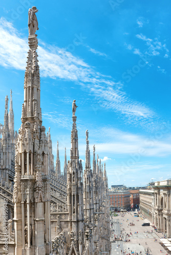 Aluminium Milan Statues on the roof of famous Milan Cathedral Duomo