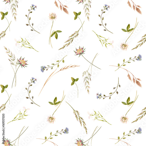 Watercolor floral pattern - 169517030