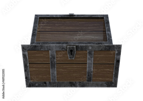 3d rendering treasure chest on white buy photos ap images