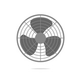 Fan icon vector isolated - 169529850