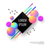 Abstract multicolored background with decorative balls.Modern design.Universal vector background for poster, banners, flyers, card