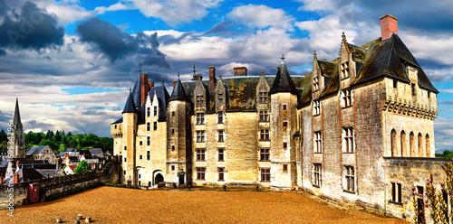 Fotobehang Freesurf Landmarks of France- castles of Loire valley - impressive Langeais