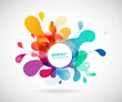 abstract colored background with circles. - 169541031