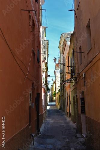 Fotobehang Smalle straatjes Gasse in Italien