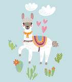 Lama vector illustration