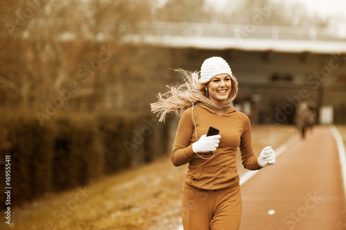 Woman is exercise