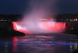 Niagara Falls illuminated at night, Canada and USA