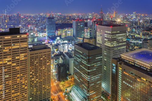 Cityscape of Tokyo city, japan Poster
