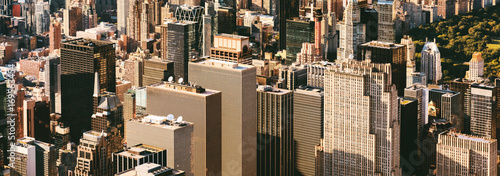 Aerial view of Midtown Manhattan, NY skycrapers - 169563454