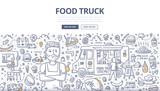 Food Truck Doodle Concept - 169566222