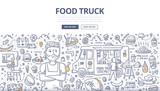 Food Truck Doodle Concept - 169566222