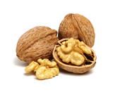 cracked walnut on white - 169567644