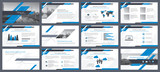 Elements of infographics for presentations templates. Annual report, leaflet, book cover design. Brochure layout, flyer template design. Corporate report, advertising template in vector Illustration.  - 169569645