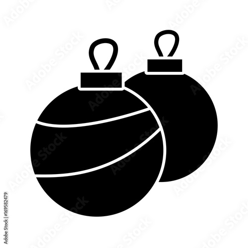 christmas balls ornament decoration element vector illustration