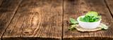 Balm on vintage wooden background - 169586643