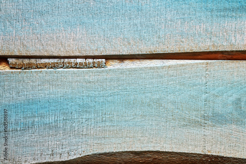 Old wood rustic blue background or texture