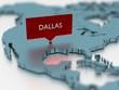 3d world map sticker - City of Dallas