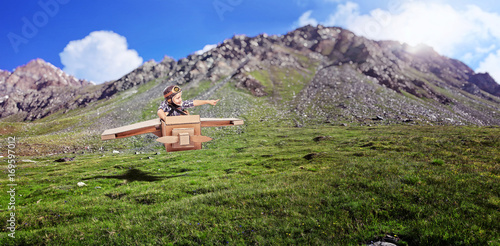 little aviator in action
