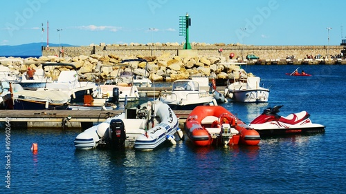 Foto op Plexiglas Rio de Janeiro Rio Marina port, boats and panoramic view in Elba island, Italy, Tuscany, Livorno