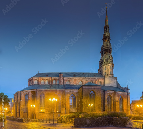 St. Peter's is a Lutheran church in Riga, the capital of Latvia.